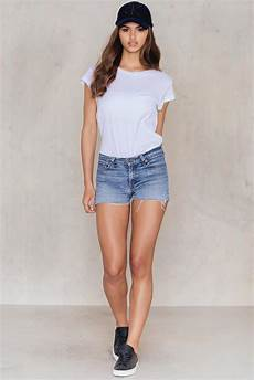 low waist na kd levi s low waist vintage shorts in blue lyst