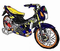 Gambar Motor Drag Bike Kartun Rosaemente