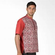 jual aitana koko batik btk mg 14012 ss baju muslim pria merah online harga kualitas