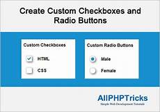 create custom checkboxes and radio buttons all php tricks