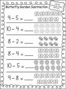 subtraction practice worksheets for kindergarten 10526 butterfly garden subtraction worksheet kindergarten math subtraction worksheets teaching math