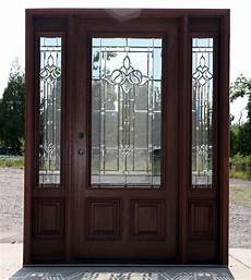 Exterior Entry Doors by Mahogany Exterior Door With Sidelights N 200 Mystic 6 8 Ebay