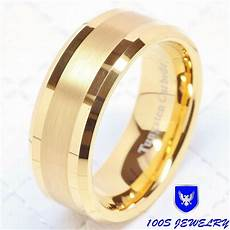 mens wedding rings size 16 mens tungsten carbide ring wedding band 14k gold 8mm jewelry bridal size 8 16 ebay