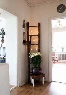 Alte Leiter Dekorieren - the ladder with candles hanging craft ideas in