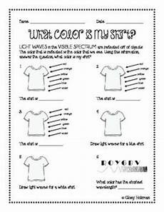 colors spectrum for worksheet 17 best images about physical science waves on