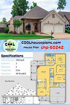 acadian country house plans house plan chp 60242 in 2020 house plans acadian house