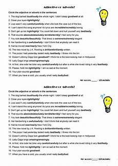 adjective or adverb worksheet free esl printable worksheets made by teachers