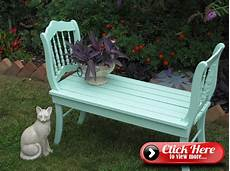 put together a garden bench from two chairs