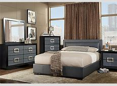 City View Gray 5 Pc Queen Upholstered Bedroom   Bedroom