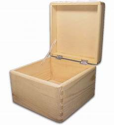 Holzbox Mit Deckel - quadratische aufbewahrungsbox holzkiste cube kiefer