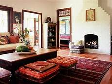 Home Decor Ideas For Living Room Indian Style by See How A Beautiful Rug Anchors This Indian Style