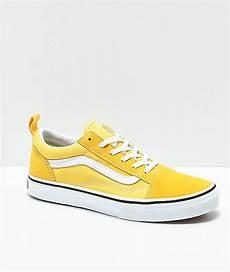 vans skool yellow true white skate shoes zumiez