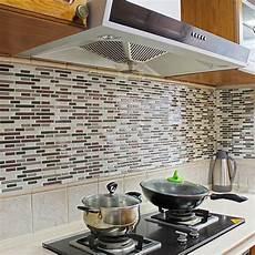 Kitchen Backsplash Stickers 4pcs Home Decor 3d Tile Pattern Kitchen Backsplash