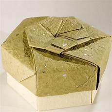 schachtel falten anleitung decorative hexagonal origami gift box with lid 19 flickr