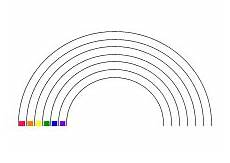 ausmalbilder regenbogen mit 6 regenbogenfarben