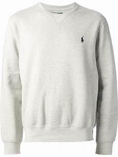 polo ralph estate fleece sweatshirt in gray for