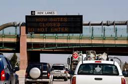 HOV Lanes Closed Editorial Stock Photo  Image 31332438