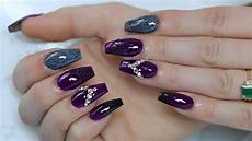 purple nail tutorial halloween nails youtube