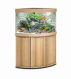 meuble d angle pour aquarium aquarium juwel trigon 190 led avec meuble bois clair