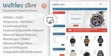 watch store responsive magento template by templatemela