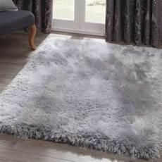 Hochflor Teppich Grau - pearl silver shaggy rug