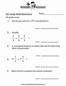 algebra worksheets 5th grade 8308 5th grade math review worksheet printable elementary math worksheets worksheets