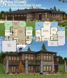 ranch with walkout basement house plans plan 85126ms prairie ranch home with walkout basement
