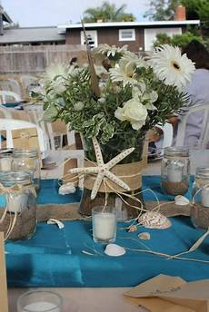 beach themed centerpiece for a wedding beach bridal showers wedding centerpieces bridal