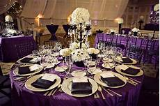 black and purple wedding reception royal purple black and white wedding reception