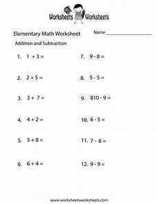 free math addition and subtraction worksheets for 1st grade 9910 addition and subtraction elementary math worksheet free printable educational worksheet