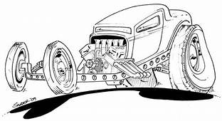 Free Coloring Pages Of Old Hot Rod Sheet 6481