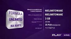 Formuła Unlimited Na Kartę W Play