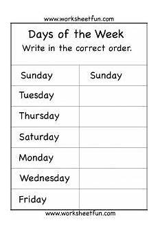 spelling worksheets printable free 22515 days of the week 1 worksheet school worksheets worksheets for 1st grade
