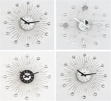 xl designer luxus wanduhr kristall uhr silber 50cm neu ebay