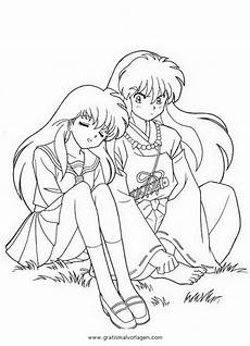 Anime Malvorlagen Comic Kagome Inuyasha 4 Gratis Malvorlage In Comic