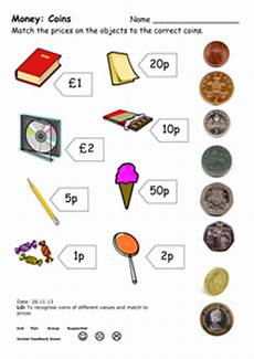uk money worksheets year 4 2831 money coin match doc