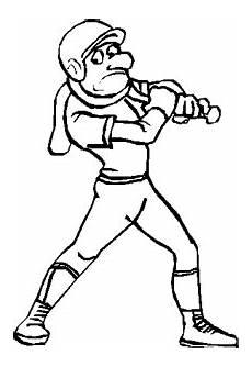 baseballspieler schlaeger ausmalbild malvorlage sport