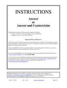 fillable online mncourts instructions for the answer form minnesota judicial branch mncourts