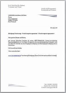 kündigung versicherung vorlage k 252 ndigung versicherung k 252 ndigungsschreiben vorlage
