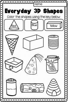 2d and 3d shapes worksheet pack no prep shapes
