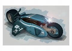 Winged Bike Concept Future Motorcycle Futuristic Vehicle