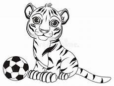 Malvorlagen Tiger Pool Coloring Bot With A Stock Illustration Illustration