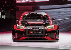 audi s brand new rs3 sedan already fired up to go racing