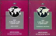 online car repair manuals free 1997 ford f250 security system 1997 ford f 250 hd f 350 f super duty service manual 2 volume set original