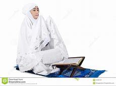 Muslim Woman Praying On Traditional Way Stock Photo