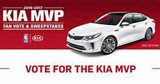 kia mvp fan vote sweepstakes 2017 win a trip to the nba