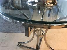 runder glastisch tisch rund glas metall runder glastisch durchmesser 65 cm