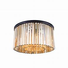 worldwide lighting winchester 4 light bronze and golden teak crystal flushmount