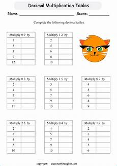decimal concepts worksheets 7090 multiply these decimal tenths by whole numbers math decimal worksheet for grade 4 students