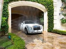 A Car Wash Is Built Into The Exit Of The Port Cochere So